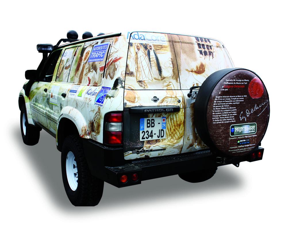 Vehicle-covering design - left