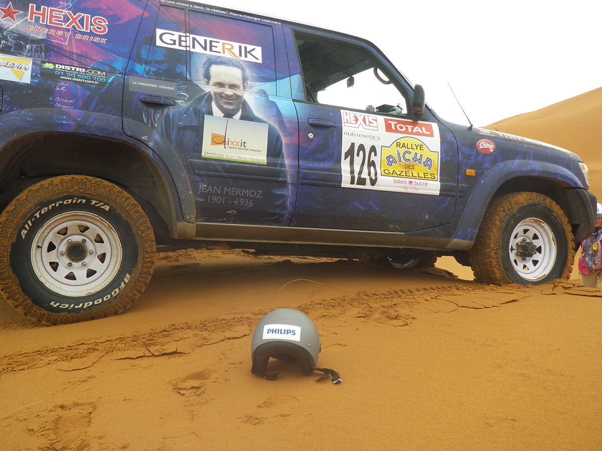 During the rallye - on the dunes of Morocco