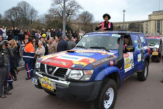 Departure of the Rallye - Paris - Trocadéro