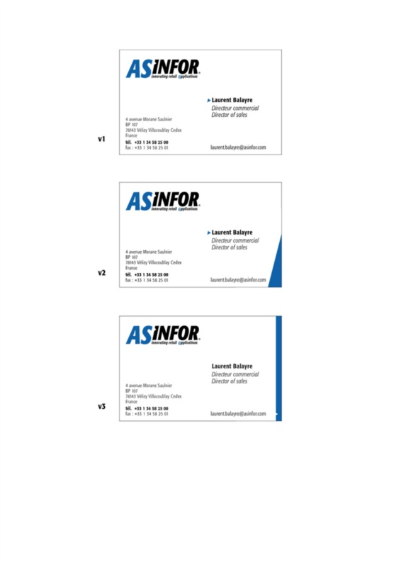As Infor - corporate branding - business cards pdf