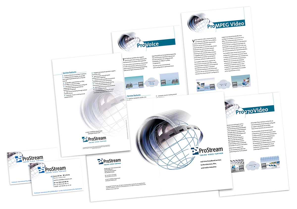 ProStream - corporate and product branding