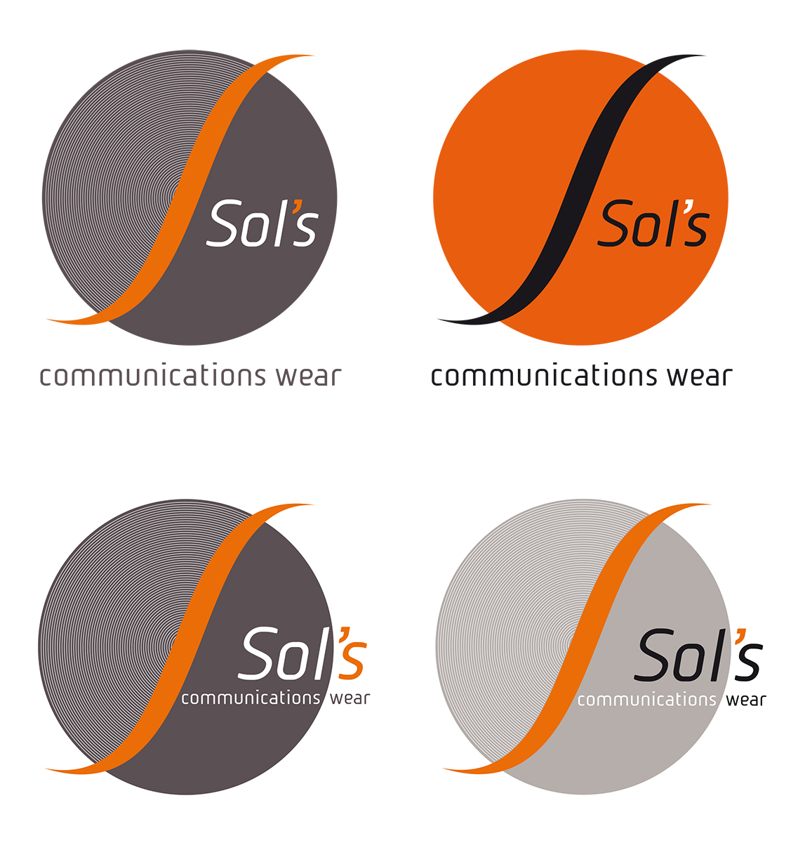 Sol's communications wear - logo proposal