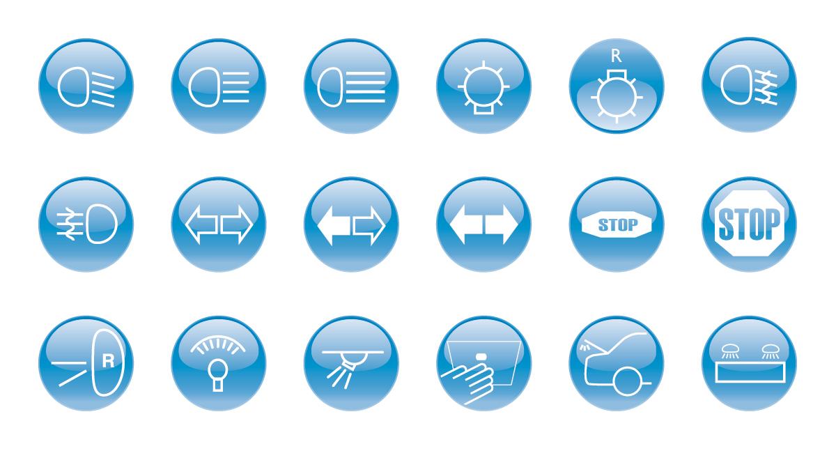 Philips automotive lighting function icons