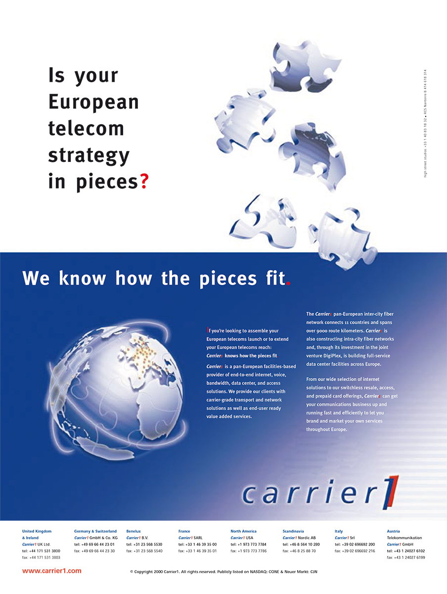 Carrier 1 - Telecom strategy B2B ad