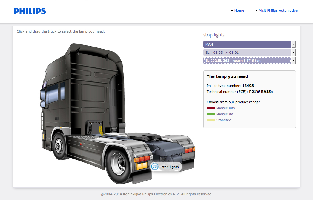 Philips 24V truck lighting application guide - Results page