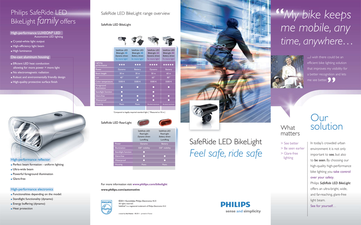 Philips LED Bike-lighting consumer leaflet - cover and back -  full pdf
