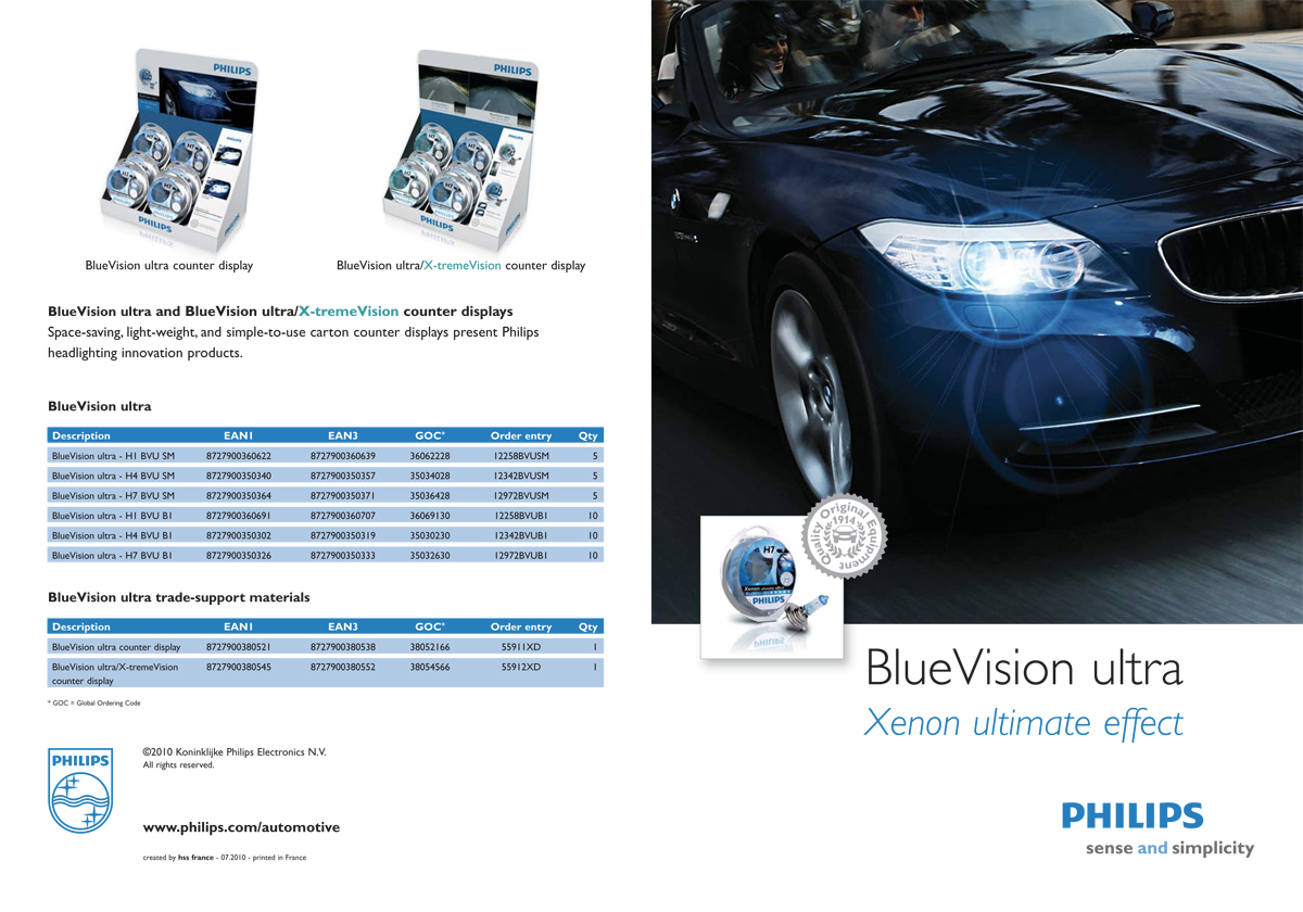 Philips automotive - BlueVision ultra product brochure - full pdf