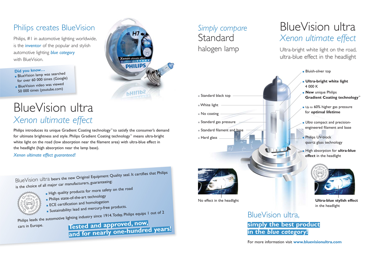 Philips automotive - BlueVision ultra product brochure - inside