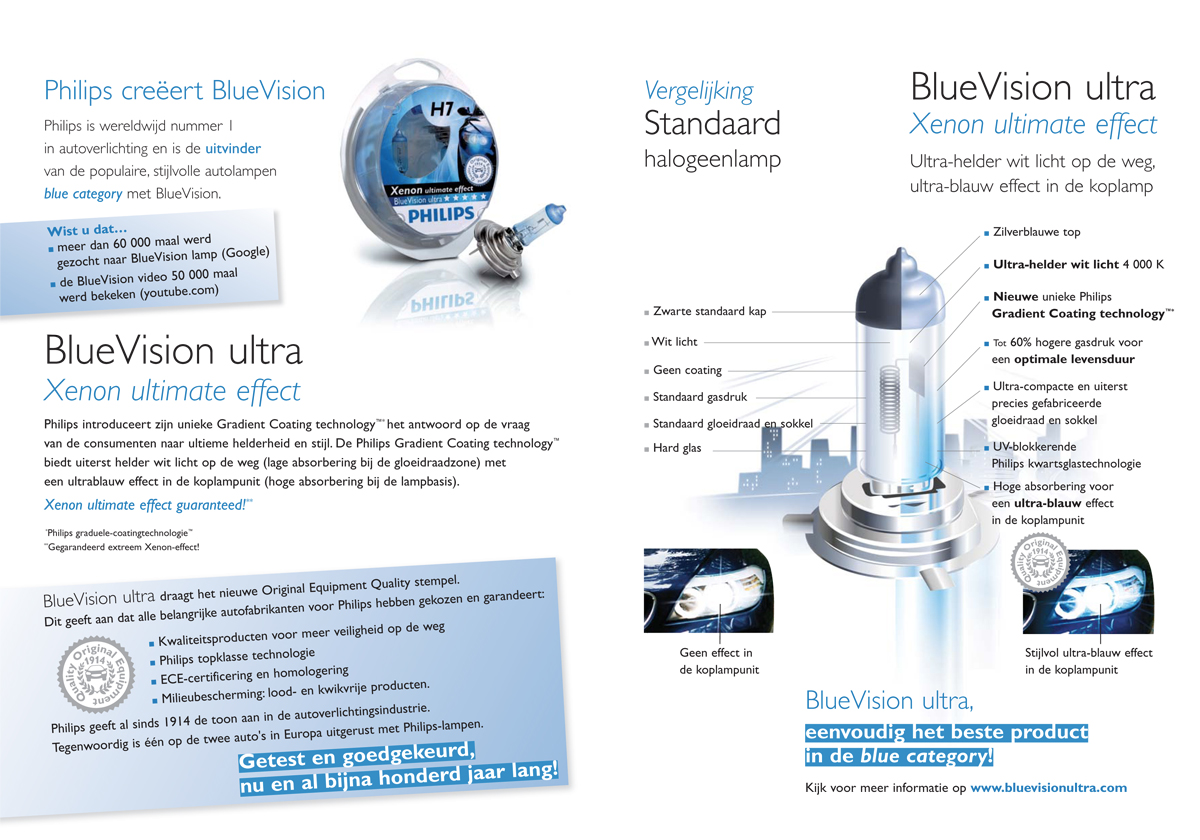 Philips automotive - BlueVision ultra product brochure - inside -Dutch version