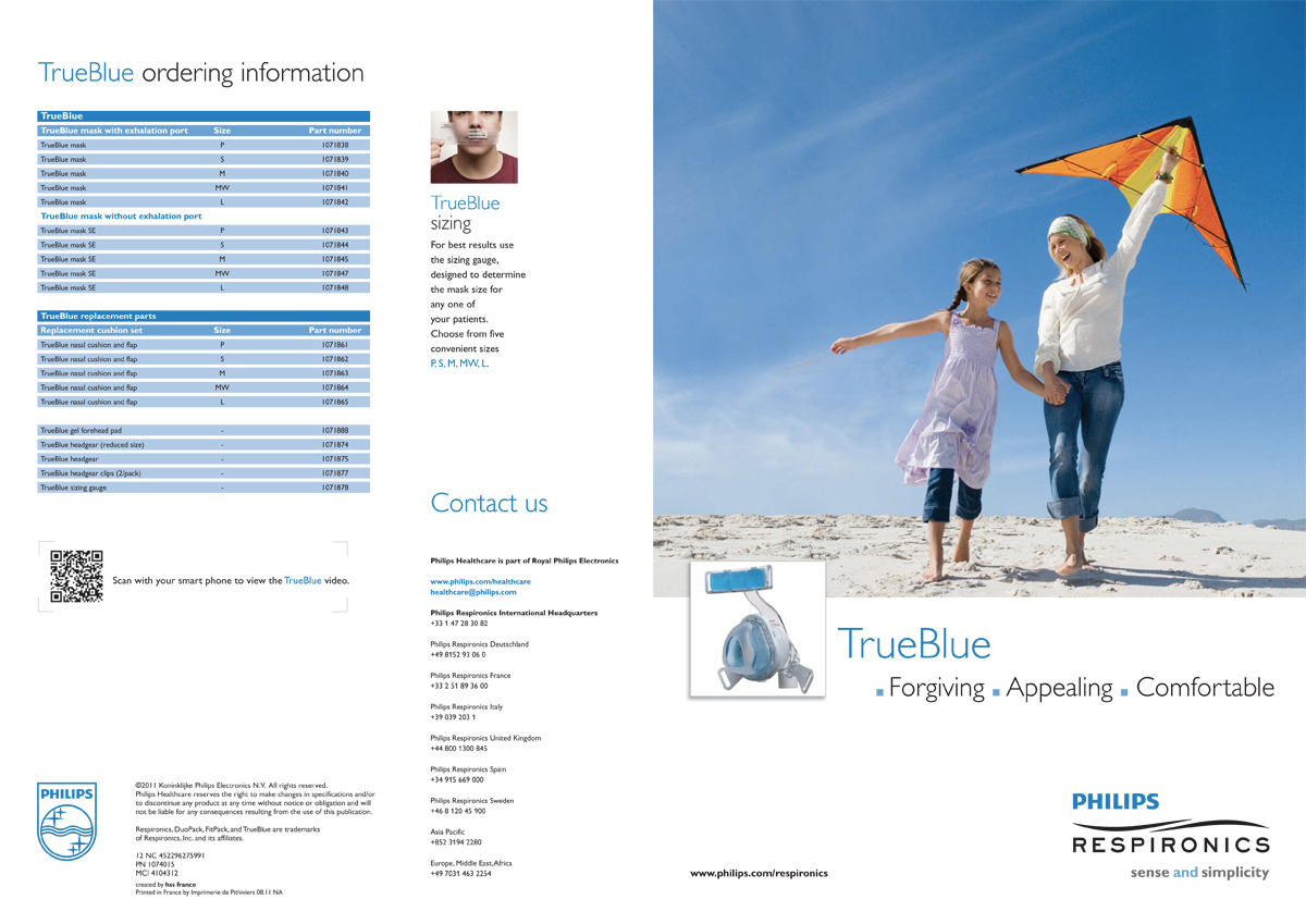 Philips Healthcare - TrueBlue product brochure - cover and back- English version pdf