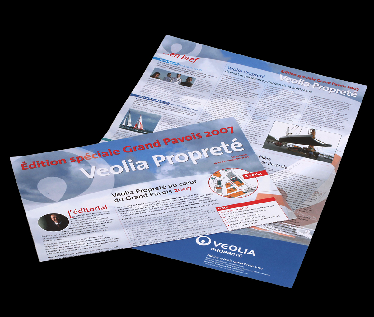 Veolia Propreté - Newsletter - cover and back