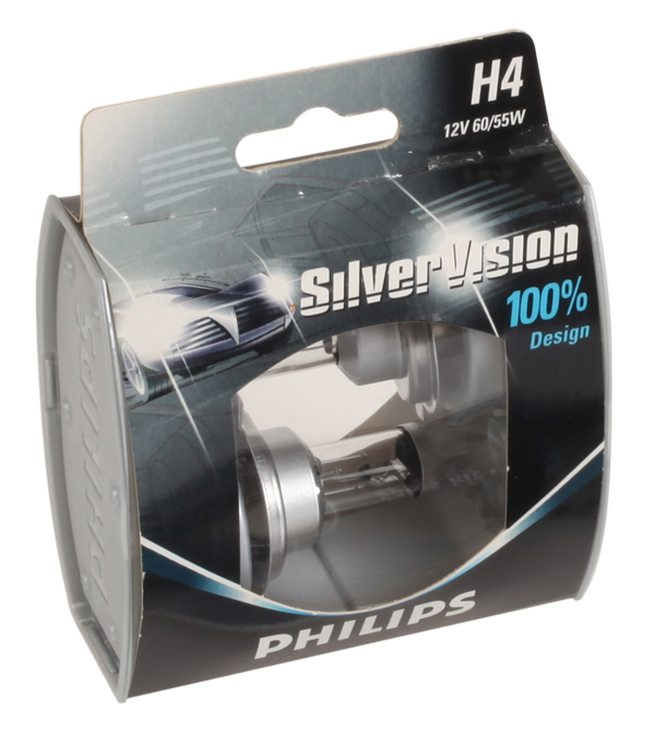 Philips SilverVision automotive lighting packaging