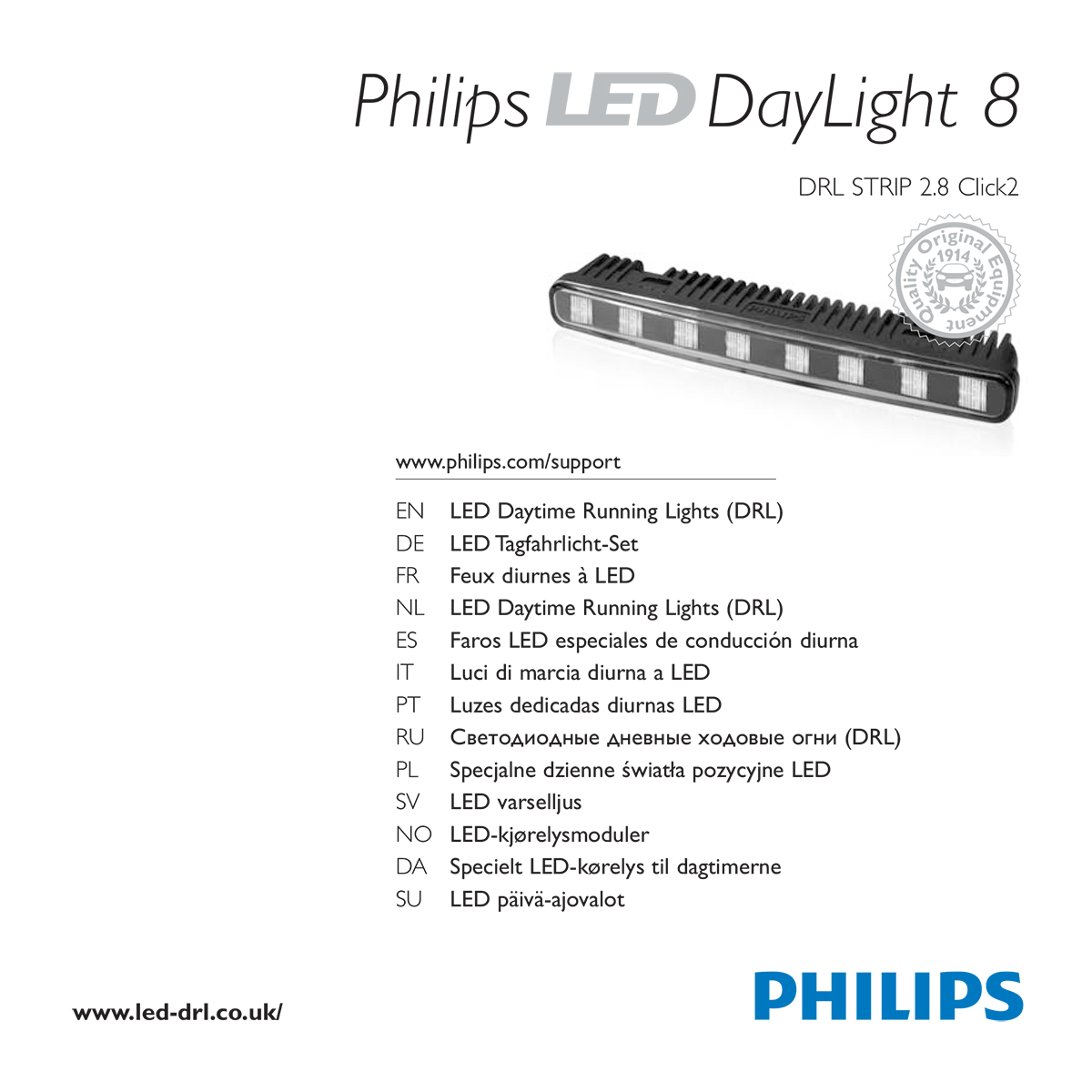 Philips LED DayLight 8 user guide - full pdf version