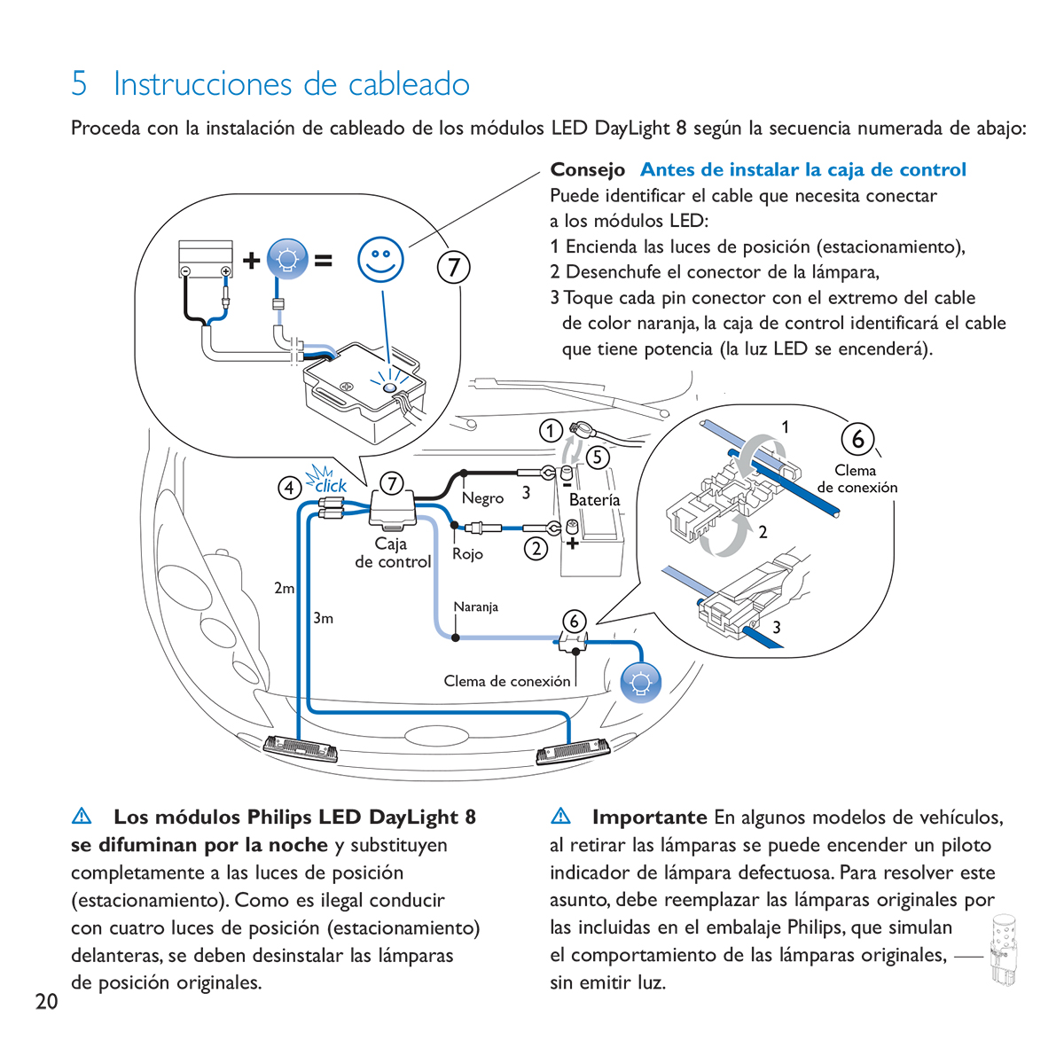 Philips LED DayLight 8 user guide - Inside page - Spanish
