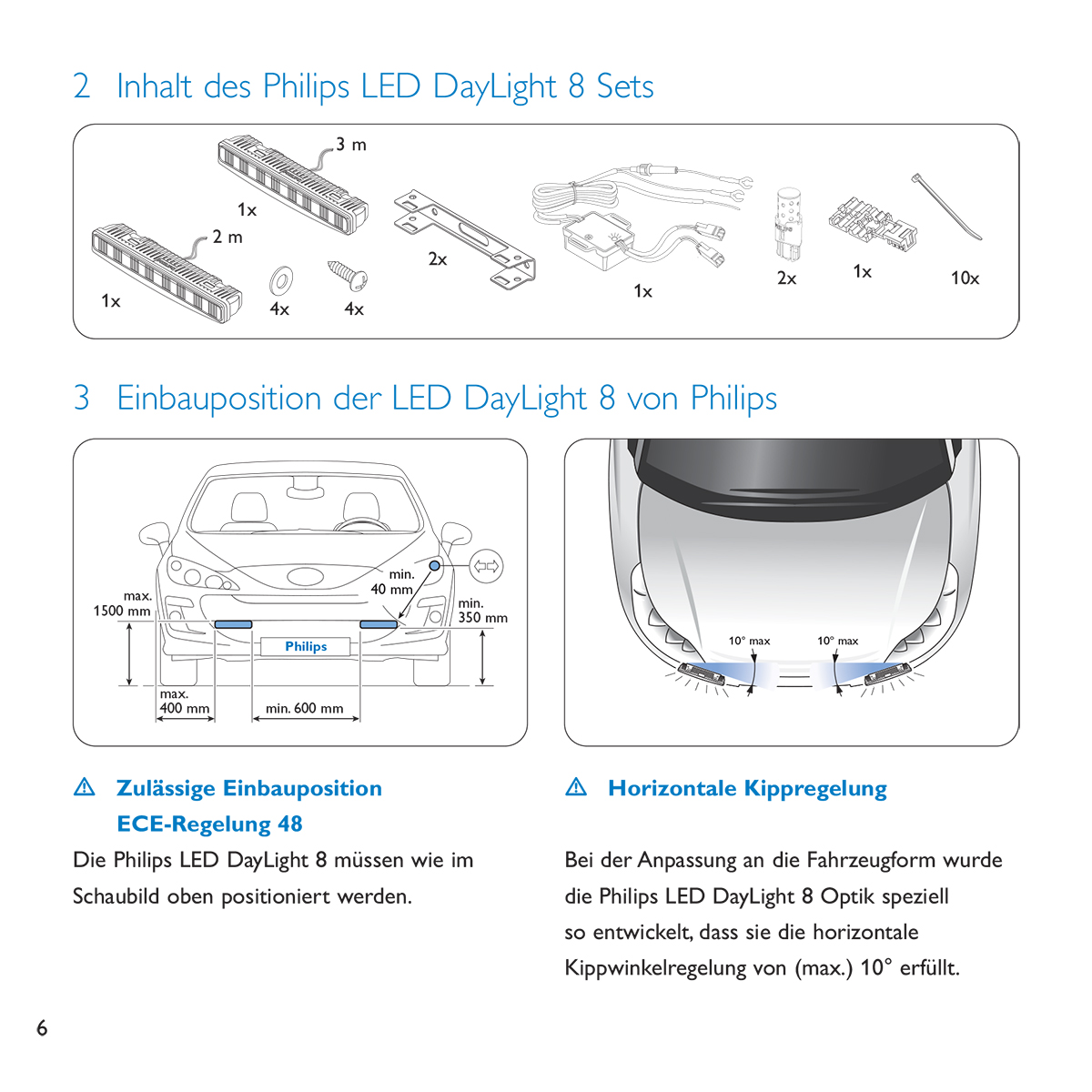 Philips LED DayLight 8 user guide - Inside page - German